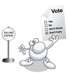 man vote vector image vector image