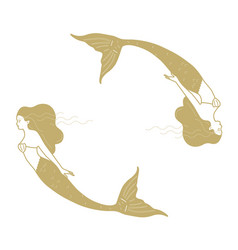 Mermaids ine art vector