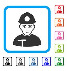 Miner framed dolor icon vector