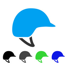 motorcycle helmet flat icon vector image vector image
