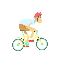 Old man riding bicycle vector