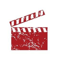 Red grunge cinema logo vector image