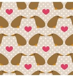 Seamless pattern with cute cartoon kiwi on grey vector image vector image
