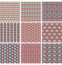 Set of Pattern vector image vector image