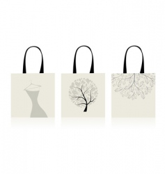 shopping bags design vector image vector image