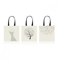 Shopping bags design vector