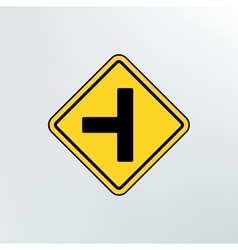 Side road sign icon vector