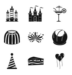 solemnization icons set simple style vector image vector image