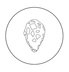 stone tool icon in outline style isolated on white vector image vector image