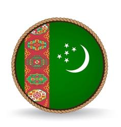 Turkmenistan seal vector
