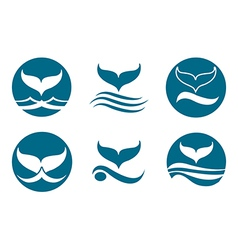 Whale Tail Logo vector image vector image