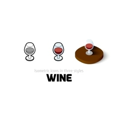 Wine icon in different style vector image