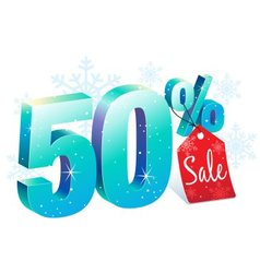 Winter Sale 50 Percent Off vector image vector image