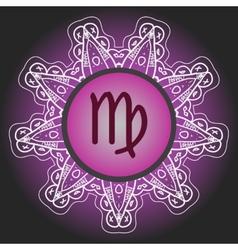 zodiac sign The Virgin virgo vector image