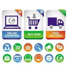 design elements for internet shopping vector image