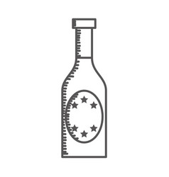 Champagne bottle drink icon vector