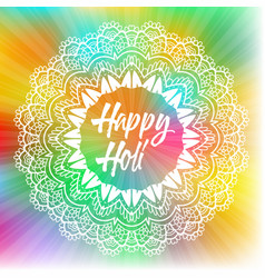 Colourful holi festival background vector