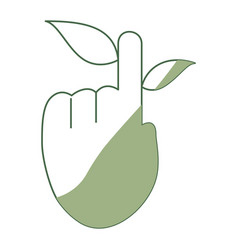 Hand cursor with leaf vector