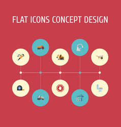 Flat icons faucet restroom stop sign and other vector