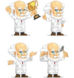Scientist or professor customizable mascot 7 vector