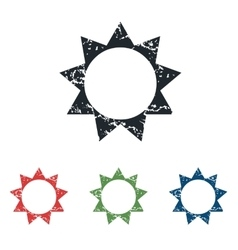 Sun grunge icon set vector