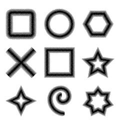 Set of Halftone dots Shapes vector image