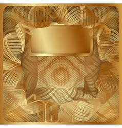 Gold vintage background frame vector