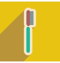 Icon of tooth brush in flat style vector