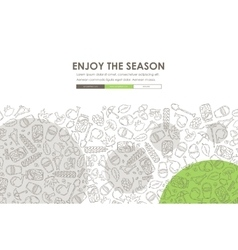 Autumn doodle website template design vector