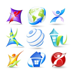 Collection of colour icons vector