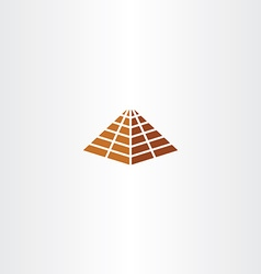 Pyramid icon sign element symbol vector