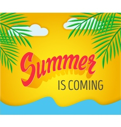 Hand written summer lettering vector