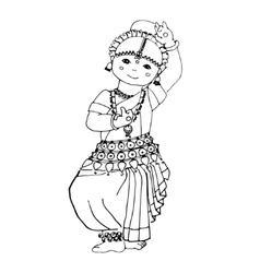 dancing Indian girl vector image