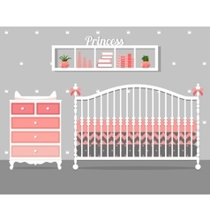 With baby bedroom vector