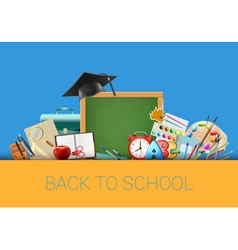 Back to school background with chalkboard vector image vector image