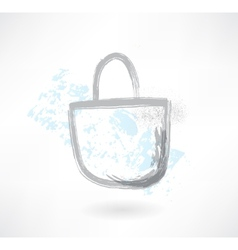 Bag grunge icon vector image