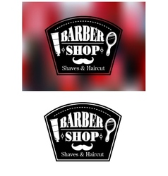 Barber shop signs vector