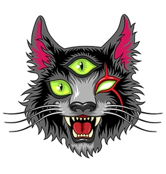 Devil cat black vector image vector image