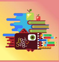Education concept poster in flat style design vector