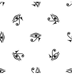 eye of horus egypt deity pattern seamless black vector image vector image