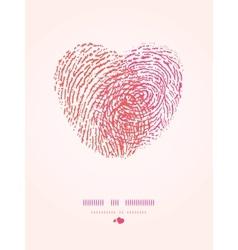 Fingerprint heart romantic background vector