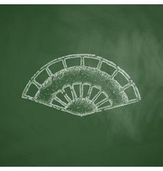 Folding fan icon vector