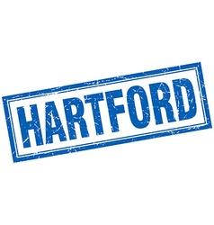 Hartford blue square grunge stamp on white vector