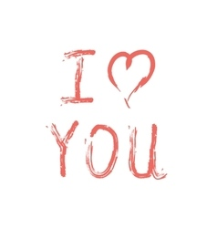 I love you lettering on white vector image