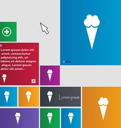 Ice Cream icon sign buttons Modern interface vector image vector image