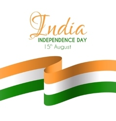India independence day greeting card vector