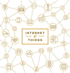 Iot internet of things smart home quality design vector