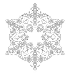 Lines artistic ottoman pattern series seventy two vector