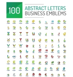 Mega set of letter logo icons vector