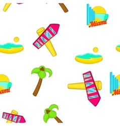 Miami city pattern cartoon style vector